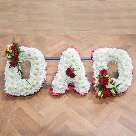 Floral Funeral Letters