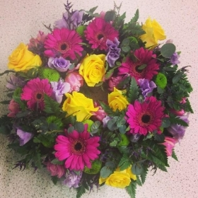 Rose and Gerbera Wreath