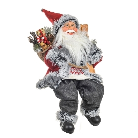 Traditional santa sitting 46cm
